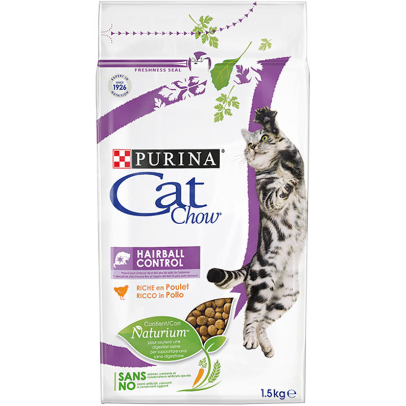 Cat Chow HAIRBALL CONTROL Rich in meat 1.5kg