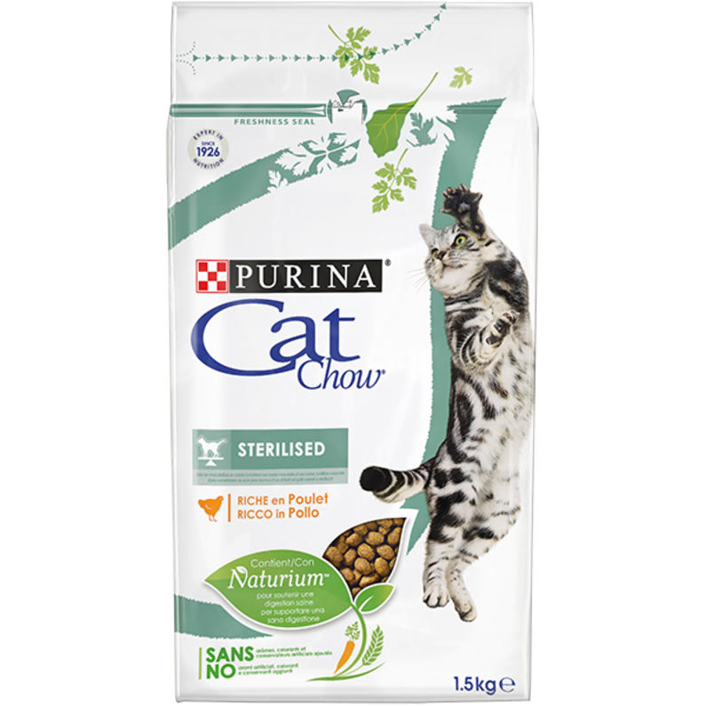 Cat Chow STERILISED Rich in meat 1.5kg